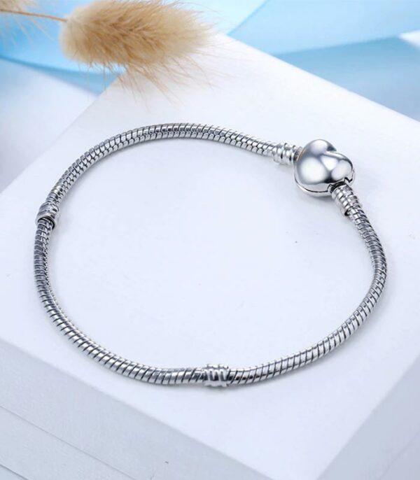 Charm Bracelet Silver Color Alloy Snake Chain Basic Bracelets Beads DIY Jewelry
