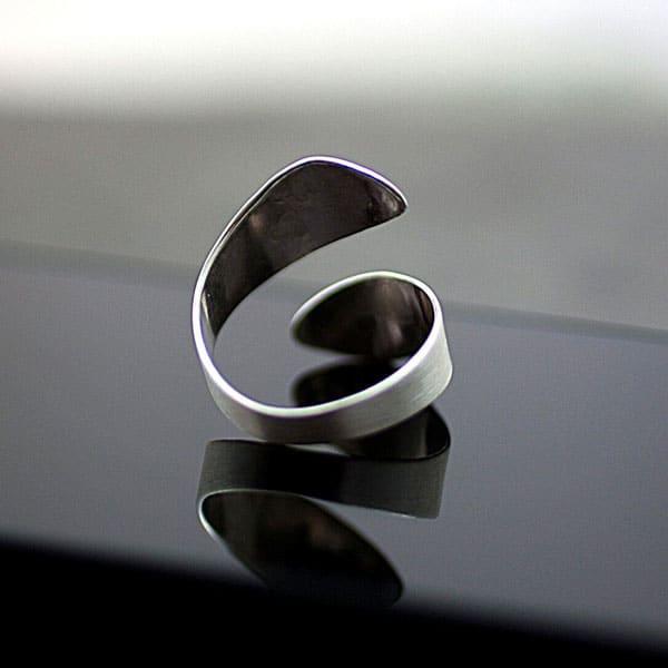Dandelion Ring Fine Plant 925 Sterling Silver
