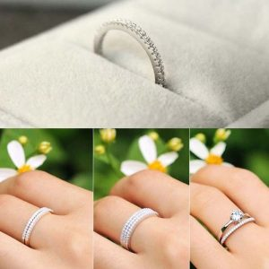 Party Wedding Slim Ring A+ Zircon S925 Sterling Silver