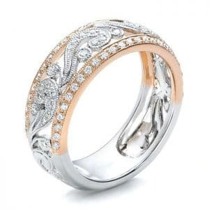Wedding Engagement 925 Sterling Silver Jewellery Ring Hollow Out Flower Wide Band Bague