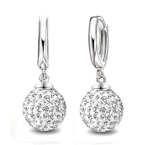 925 Sterling Silver Super Shiny Cubic Zirconia Earrings