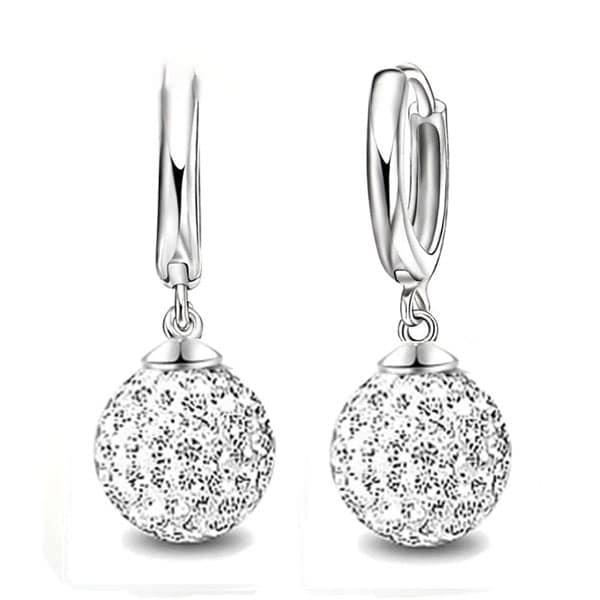 925 Sterling Silver Super Shiny Cubic Zirconia Earrings
