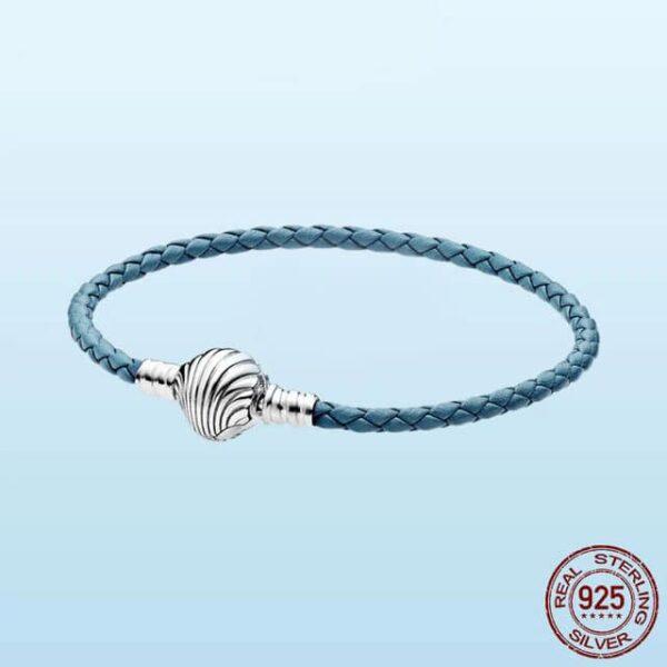Openwork Ocean Starfish Shell Bracelet 925 Sterling Silver