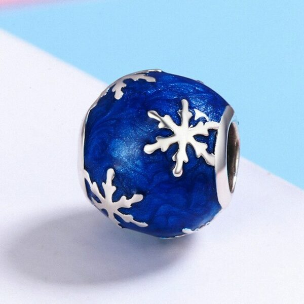 Original Blue Ocean Heart Bracelet Charm 925 Sterling Silver Jewelry