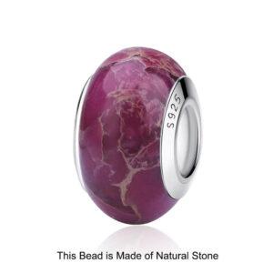 Original Glass Bead Wood Stone Murano Flower Charms Fit Bracelet