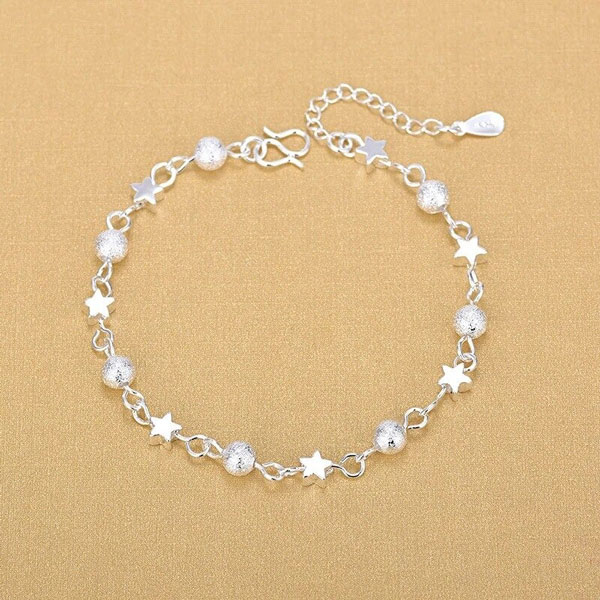 925 Sterling Silver Chain Hollow Ball Star Bracelets