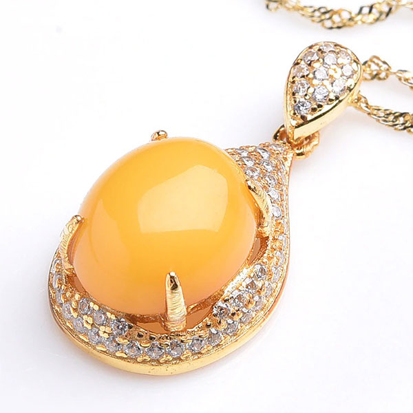 Bague Amber Necklaces 925 Sterling Silver