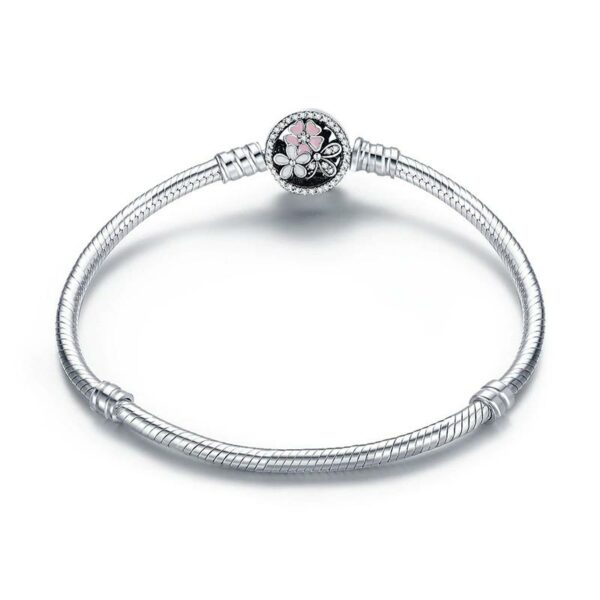 Blossom Charms Bangle 925 Sterling Silver