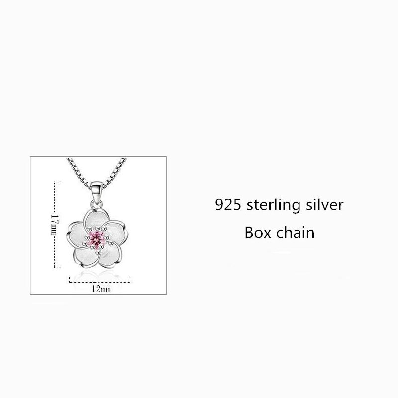 Blossom Cubic Zirconia Necklaces 925 Sterling Silver