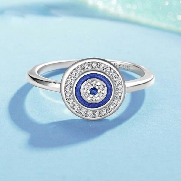 Blue Eye Set Jewellery Necklace Ring Earrings