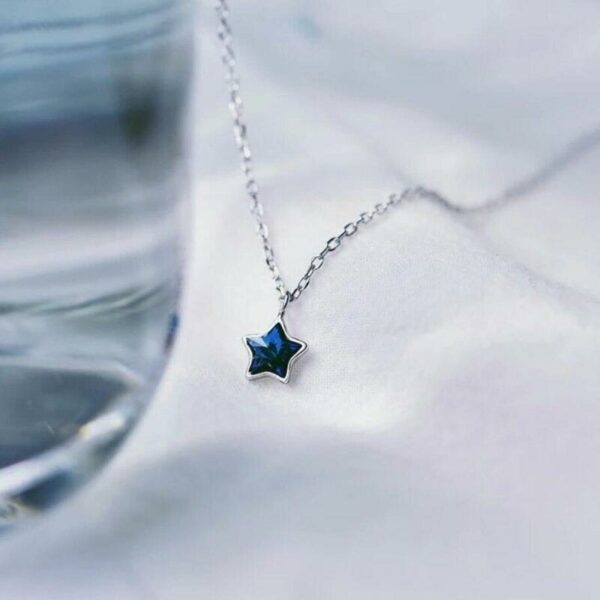 Blue Star Necklace 925 Sterling Silver