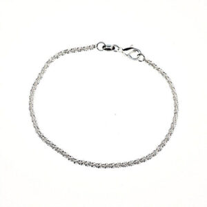 Bohemian Beads Chain Anklet 925 Sterling Silver