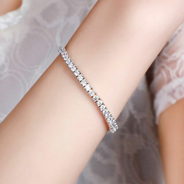 Bracelet Bangles Pave Genuine Cubic Zirconia 925 Sterling Silver