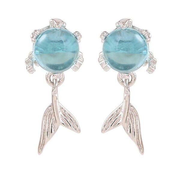 Crystal Stud Earrings 925 Sterling Silver