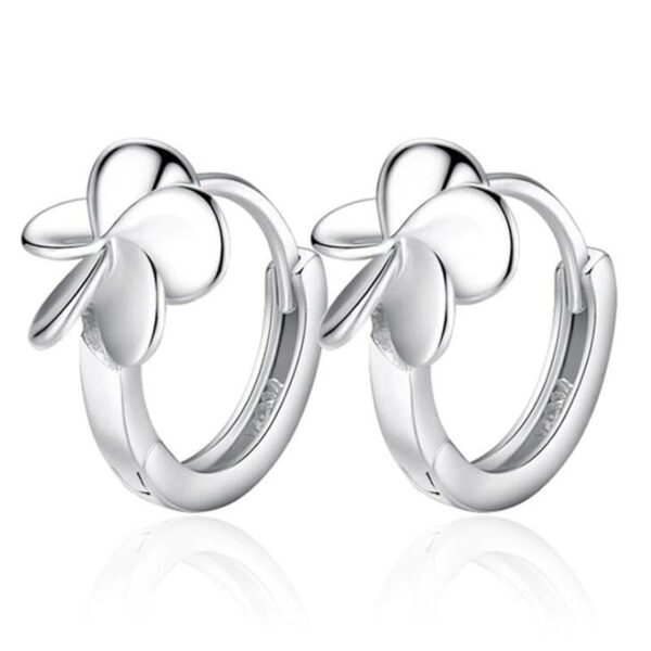 Cute Retro Leaf Flower Earrings 925 Sterling Silver