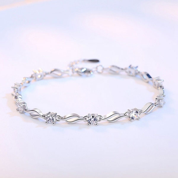 Cute Romantic Style 925 Sterling Silver Bracelet