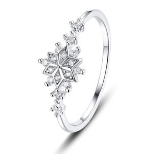 Genuine Snowflake Ring 925 Sterling Silver Ring