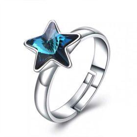 Genuine Star Adjustable Ring 925 Sterling Silver