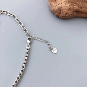Heart Pendant Anklet 925 Sterling Silver