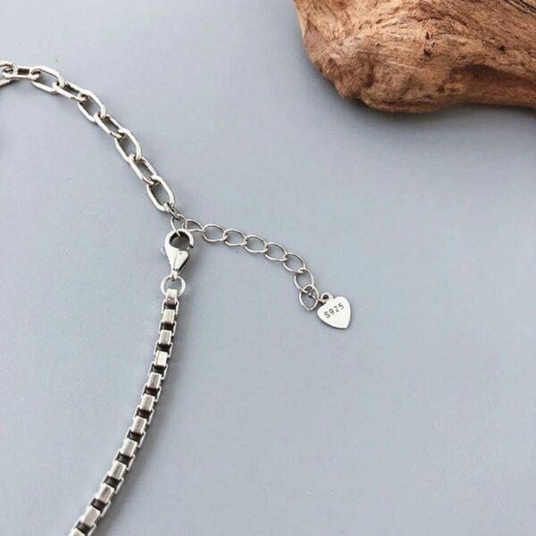 Heart Pendant Anklet 925 Sterling Silver
