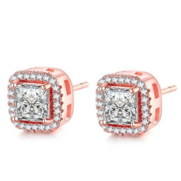 Lab Diamond Stud Earring 925 Sterling Silver