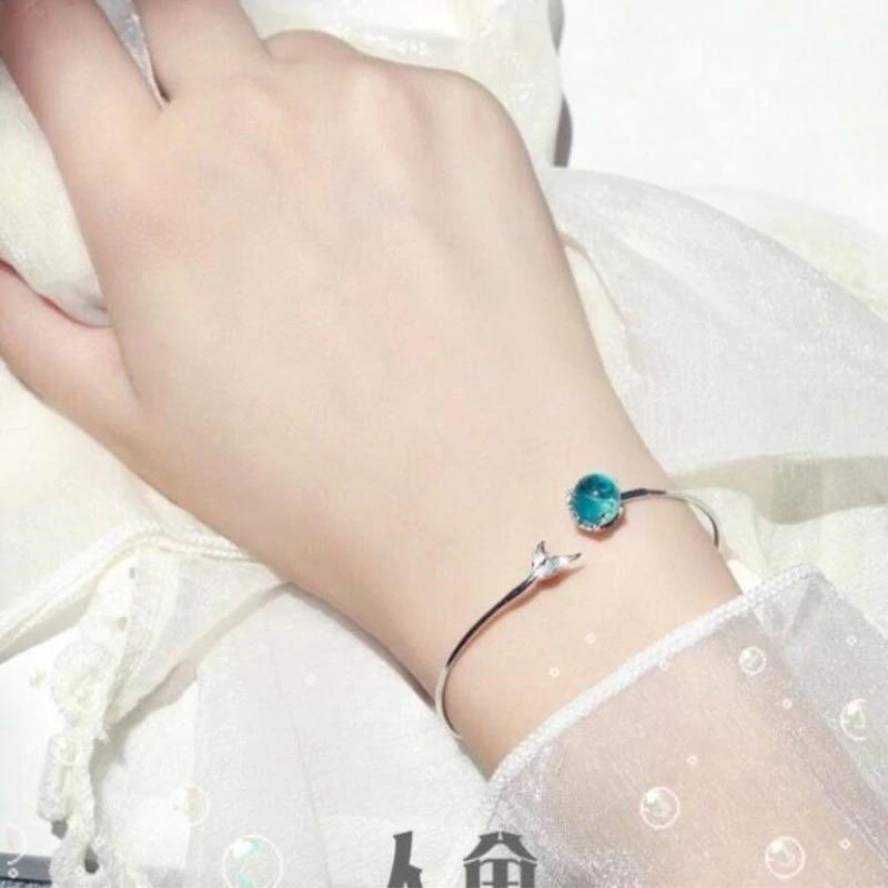 Mermaid Bubble Adjustable Bracelet 925 Sterling Silver