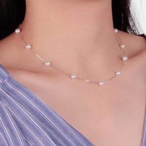 Pearl Chain Necklace Necklace 925 Sterling Silver