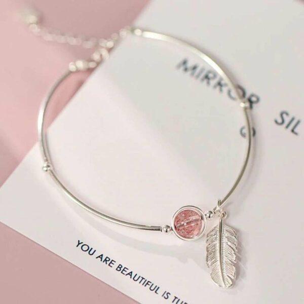 Pink Crystal Bracelets 925 Sterling Silver