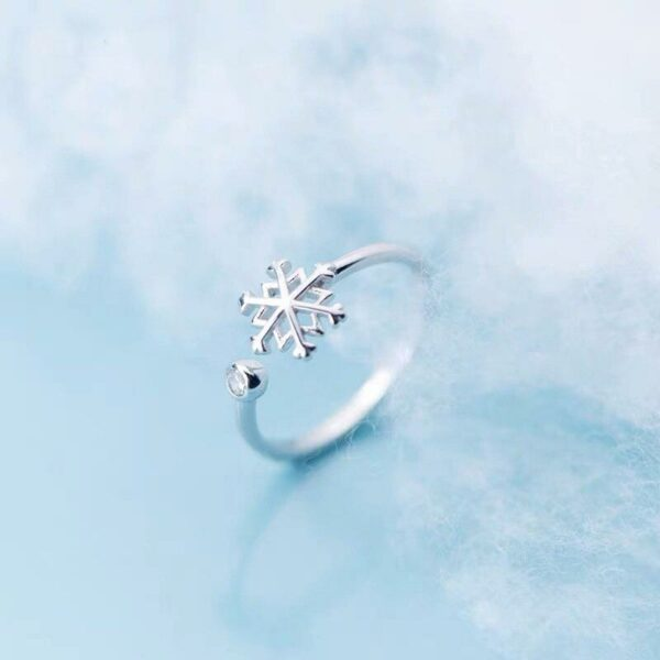 Resizable Snowflake Ring 925 Sterling Silver