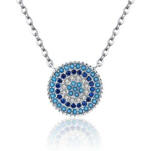 Romantic Zircon Blue Eyes 925 Sterling Silver