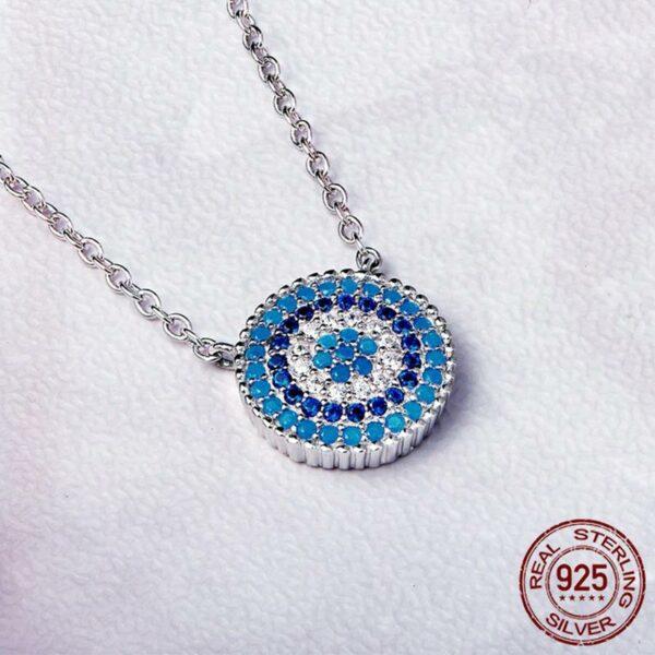 Romantic Zircon Blue Eyes 925 Sterling Silver
