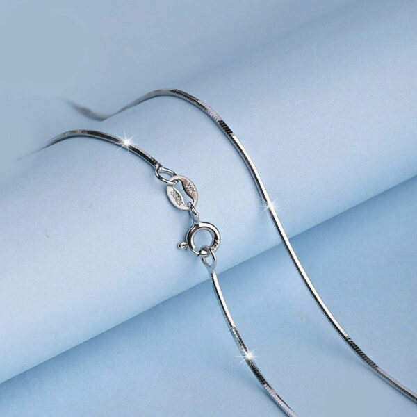 Snake Box Chain 0.7mm 925 Sterling Silver