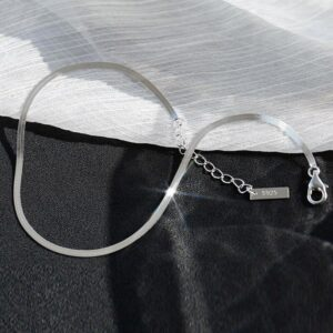 Snake Chain Adjustable Anklet 925 Sterling Silver