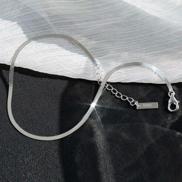 Snake Chain Adjustable Anklet 925 Sterling Silver