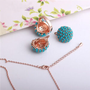 Vintage Hydrangea Flower Resin Jewelry Sets