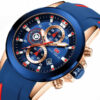 Waterproof Chronograph Casual Sport Watches Silicone Wristwatches